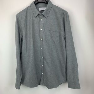 Everlane Grey Flannel Button Down Shirt
